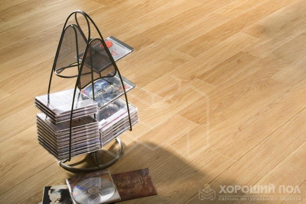 Инженерная доска COSWICK Дуб Корица Бражированная Масло шелковое ультраматовое 3-х слойный T&G (шип-паз) Селект энд Бэттер 1167-1201