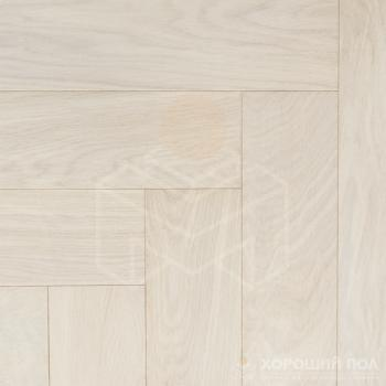 Паркет елка COSWICK Английская елка Дуб Белый иней Ренессанс Масло шелковое 3-х слойный T&G (шип-паз) Селект энд Бэттер 1140-1258