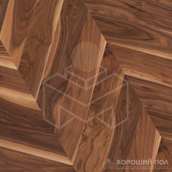 Паркет елка COSWICK Французская елка Орех Американский Натуральный Французская елка Лак 3-х слойный T&G (шип-паз) Традишинал 1385-3101