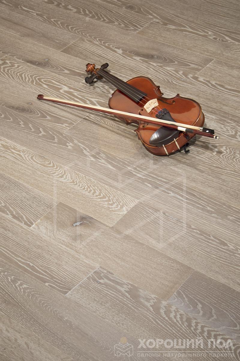 Инженерная доска COSWICK Дуб Серый кашемир Вековые традиции Масло шелковое 3-х слойный T&G (шип-паз) Черектер 1163-7251