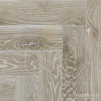 Паркет елка COSWICK Английская елка Дуб Серый кашемир Ренессанс Масло шелковое 3-х слойный T&G (шип-паз) Таверн 1168-4251
