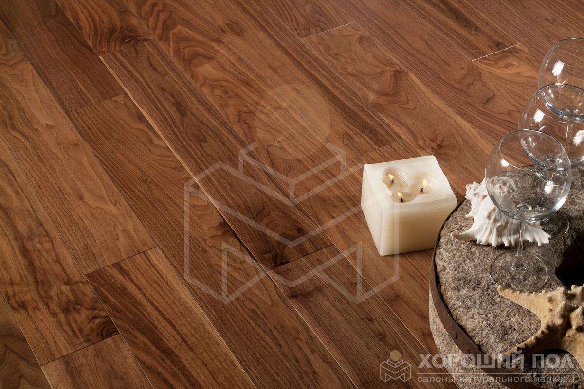 Инженерная доска COSWICK Орех Американский Натуральный Классическая Масло шелковое 2-х слойный T&G (шип-паз) Селект энд Бэттер 1321-1201