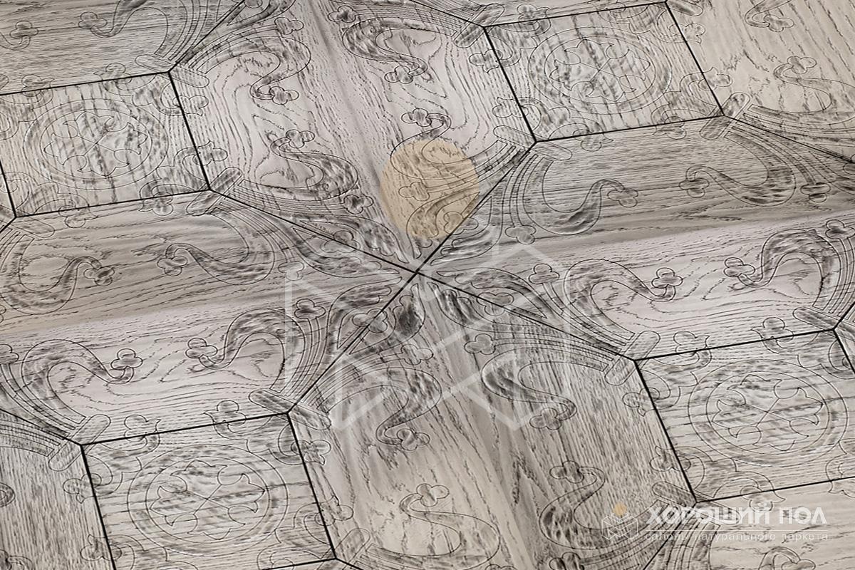Винтажный и Антикварный паркет ПЕРВАЯ ПАРКЕТНАЯ МАНУФАКТУРА – Россия Дуб Итальянская Лак F-190