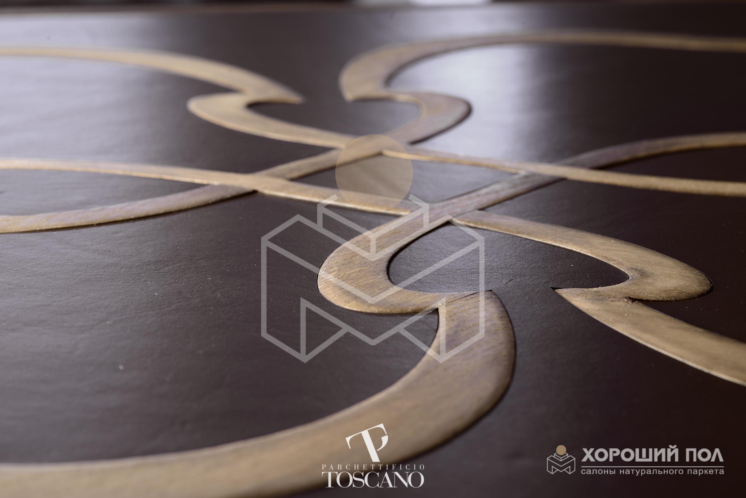 Авторский модульный паркет TOSCANO – Италия Дуб Totila 2-х слойная шип-паз 8888-36