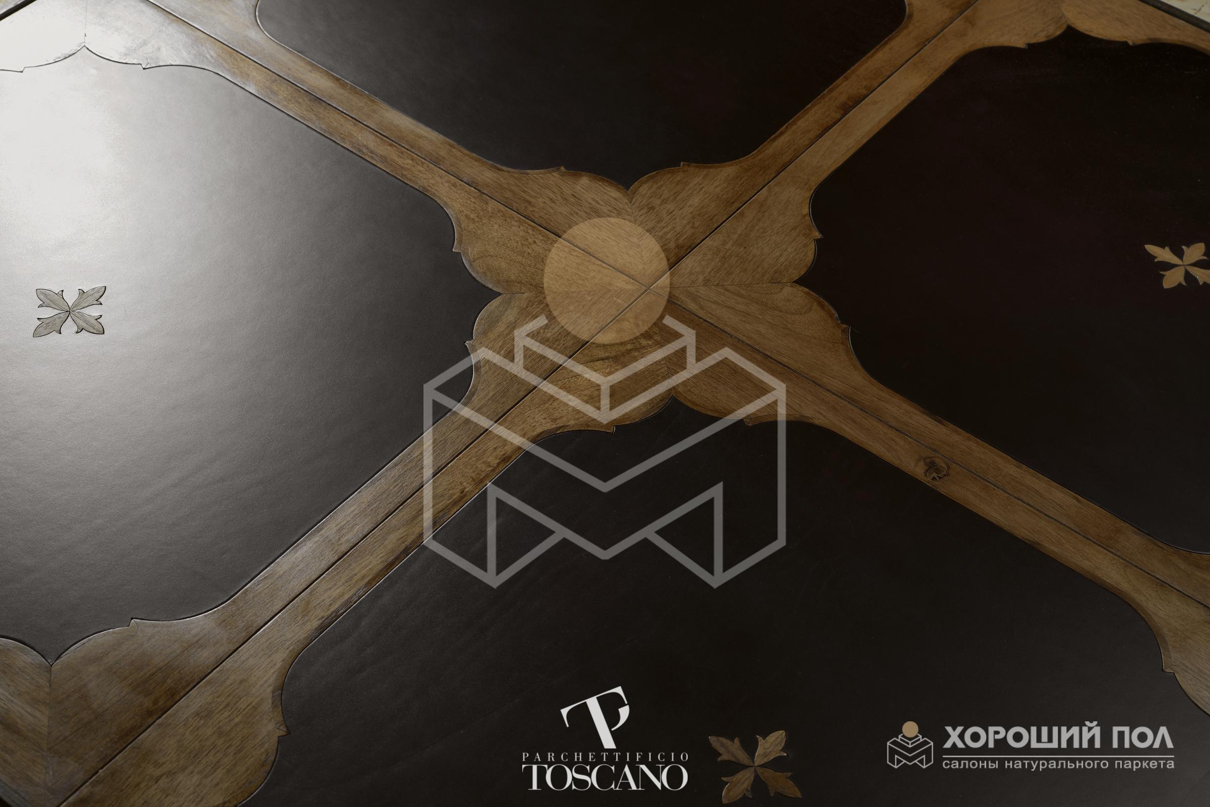 Авторский модульный паркет TOSCANO – Италия Дуб, Орех Ghiberti Naturalizzante и воск 2-х слойная шип-паз 8888-47