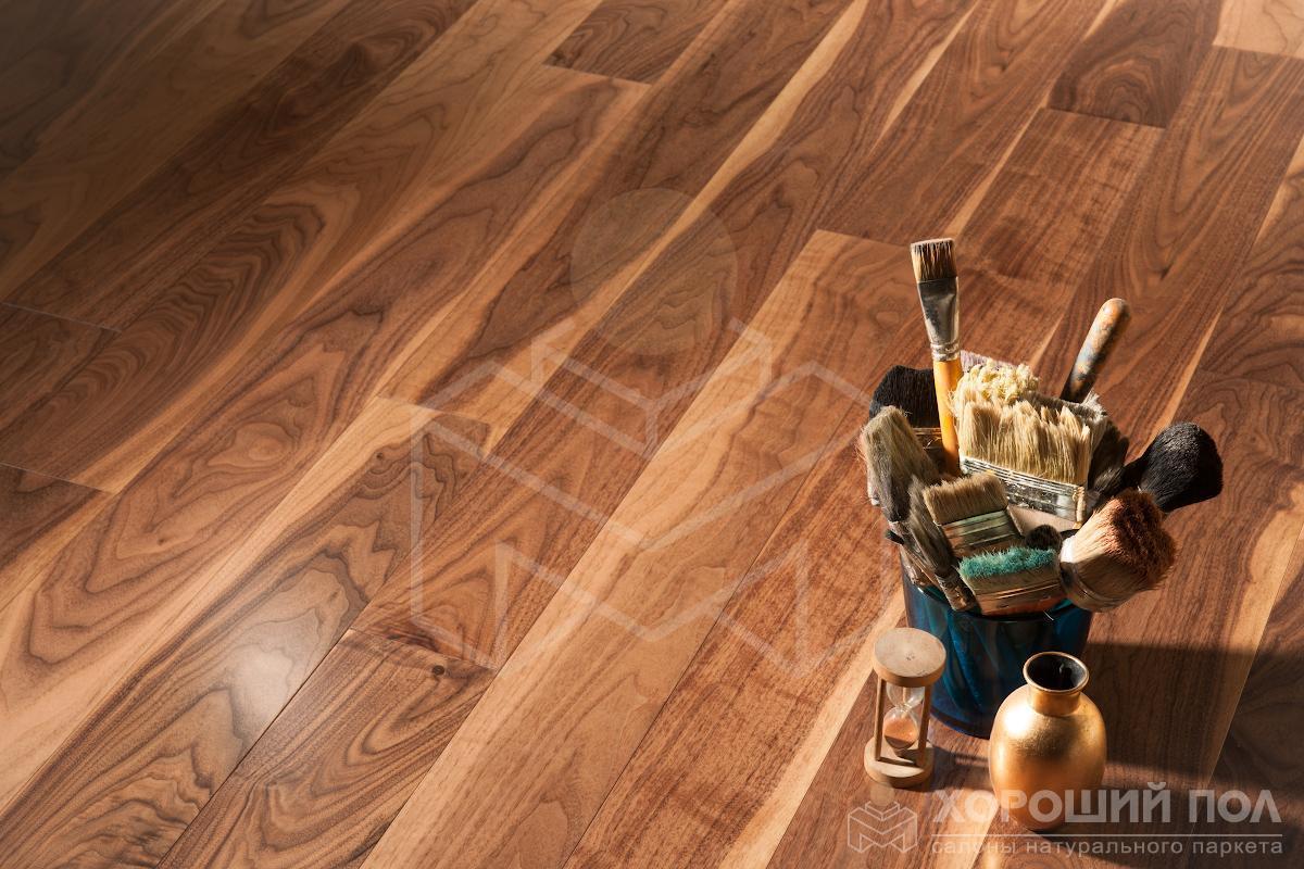 Инженерная доска COSWICK Орех Американский Натуральный Классическая Масло шелковое 2-х слойный T&G (шип-паз) Традишинал 1321-3201
