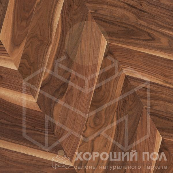 Паркет елка COSWICK Французская елка Орех Американский Натуральный Французская елка Масло шелковое 3-х слойный T&G (шип-паз) Традишинал 1383-3201