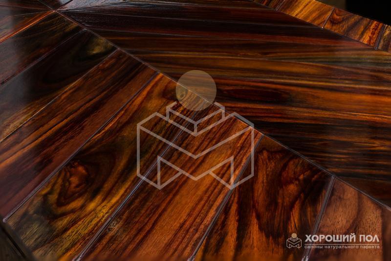 Штучный паркет KOMOFLOOR – Индонезия Палисандр Без покрытия Массив T&G (шип-паз) Экстра 9999-194