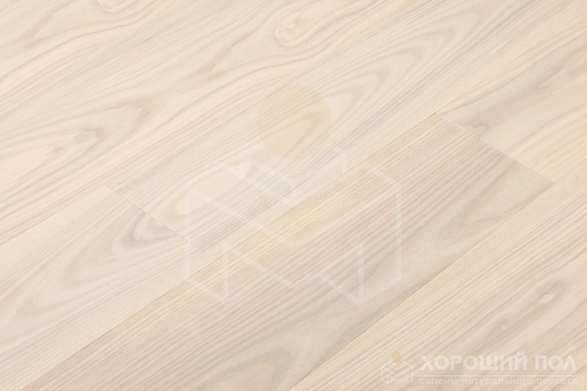 Инженерная доска COSWICK Ясень Лунный Свет Авторская Лак матовый 3-х слойный T&G (шип-паз) Селект энд Бэттер 1267-1336