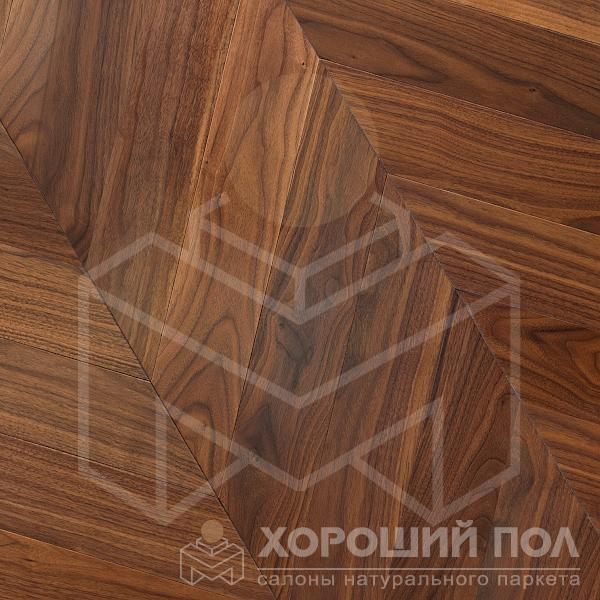 Паркет елка COSWICK Французская елка Орех Американский Натуральный Французская елка Масло шелковое 3-х слойный T&G (шип-паз) Селект энд Бэттер 1369-1201