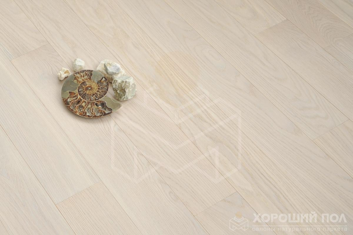 Инженерная доска COSWICK Дуб Белый иней Бражированная Масло шелковое 3-х слойный T&G (шип-паз) Селект энд Бэттер 1154-1258